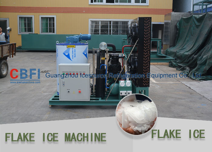 Different Capacity 500kg - 30000kg Flake Ice Maker Air Cooled / Water Cooled সরবরাহকারী