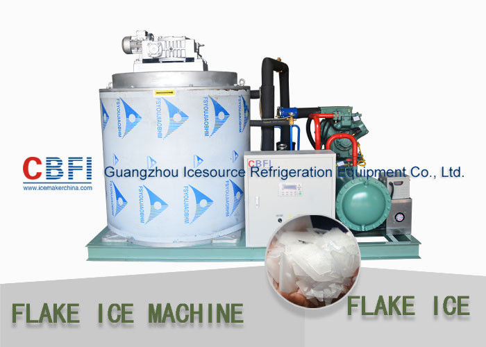 CBFI Containerized 10 ton/Day Flake Ice Machine Air Cooling / Water Cooling সরবরাহকারী