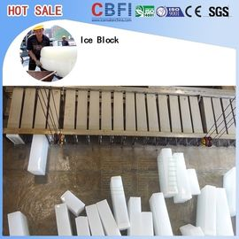 Large Capacity Ice Block Plant / Industrial Ice Maker Machine 74kw.h / ton